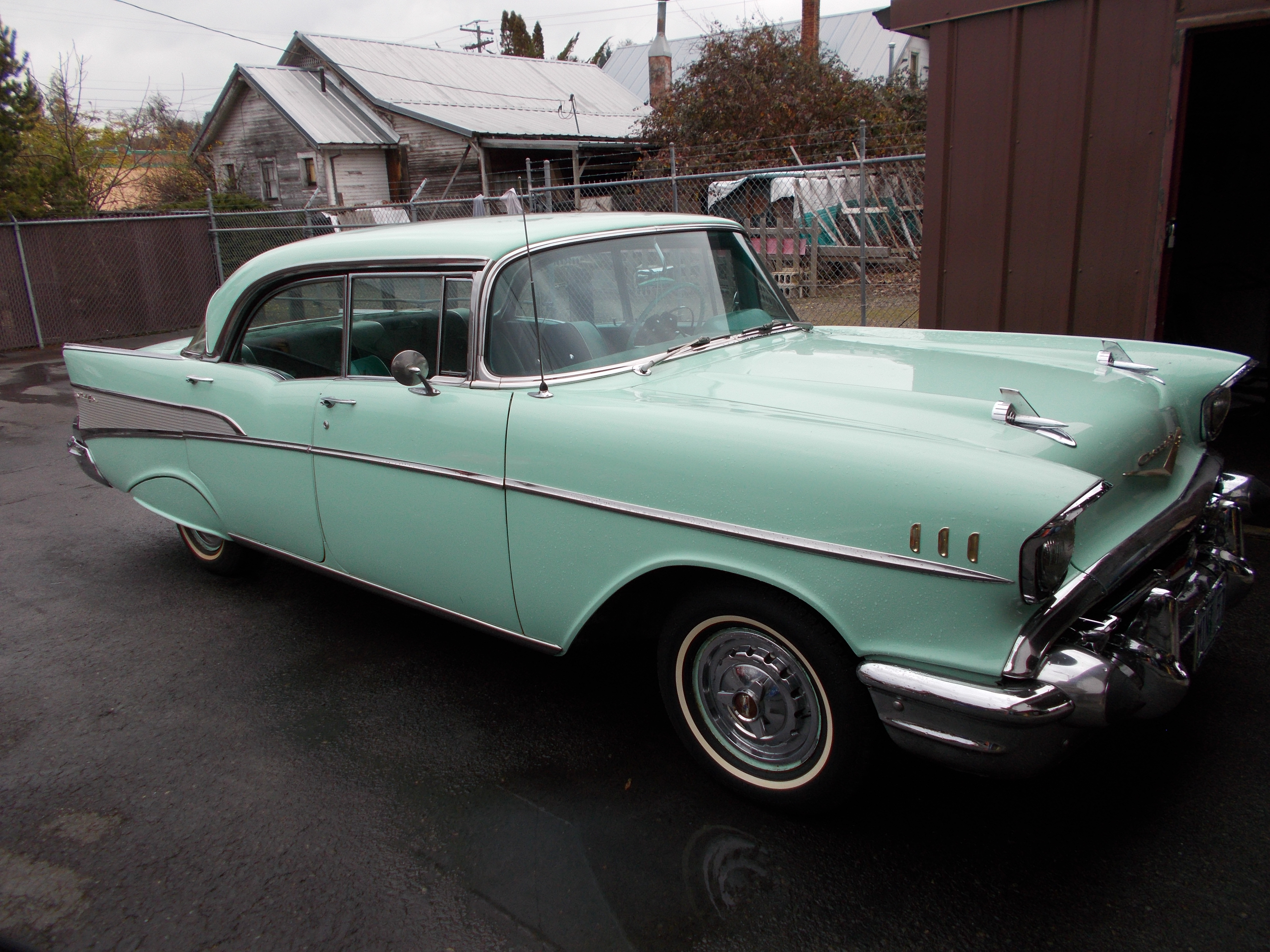 Hamilton Auto Sales 1957 Chevy Bel Air Convertible Colors Belair 4dr Hard Top Original Car With Just A Few Changes 283 V 8 Power Glide Transmission Same Owner Past 20 Years Has Been Painted