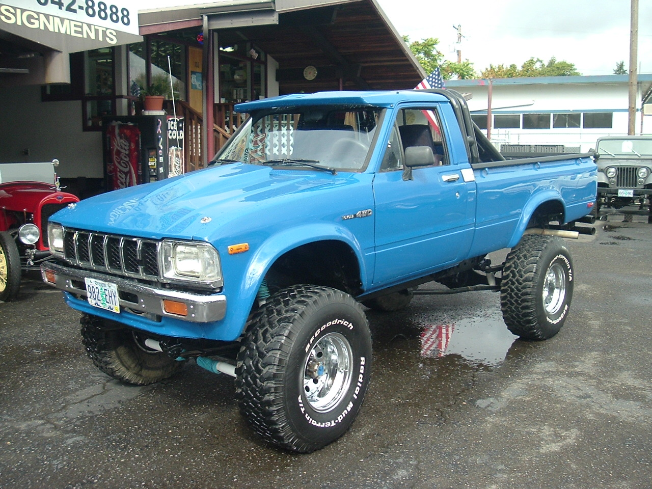 1980 toyota pickup 4x4 long bed 383 stroker v 8 turbo 350 auto transmission stock transfer case and axles power steering power brakes
