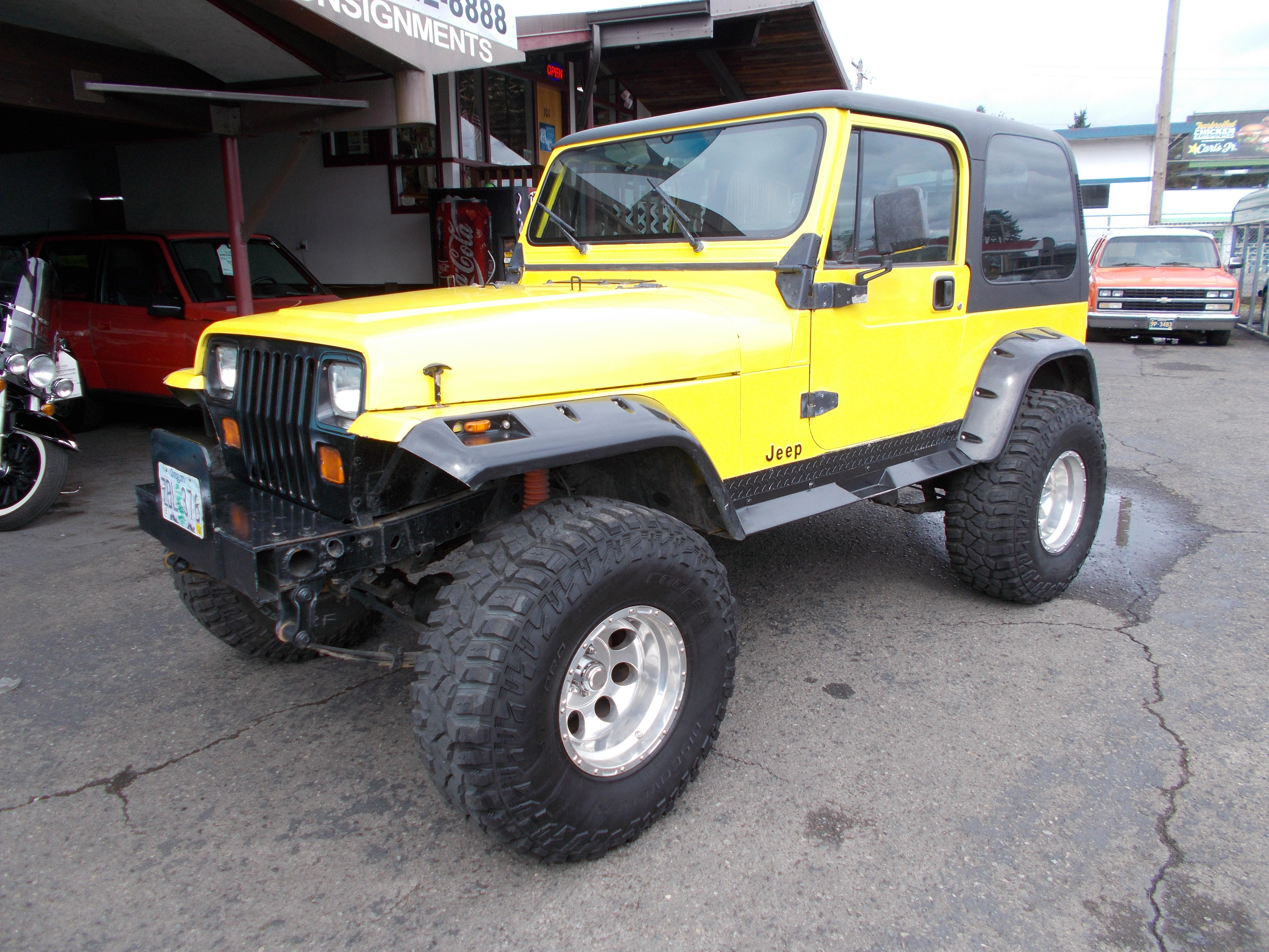 Hamilton Jeep Wrangler Flat Bed 1994 Hard Top 4cyl 5spd I Have Receipts On Recent Motor Work For 1500 Brand New 35x1250 Cooper Discover Sst Tires